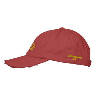 """Love the Lord your God with all your heart...""Cap Embroidered Hat"