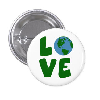 Love the Mother Earth Planet 3 Cm Round Badge