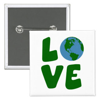 Love the Mother Earth Planet Pin