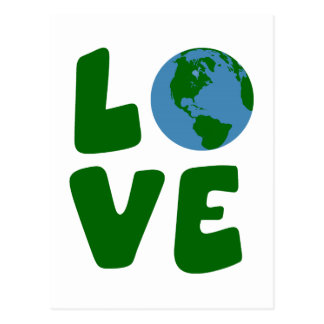 Love the Mother Earth Planet Postcard