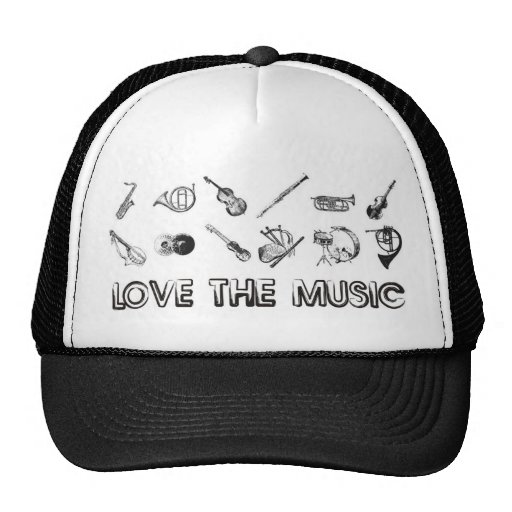 Love the music with these musical instruments mesh hat