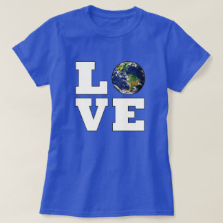 Love the Planet Earth Environmental Protection T-Shirt