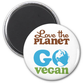 Love the Planet Go Vegan Magnet