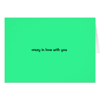 love...the real thing... greeting card