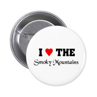 Love the smoky mountains 6 cm round badge