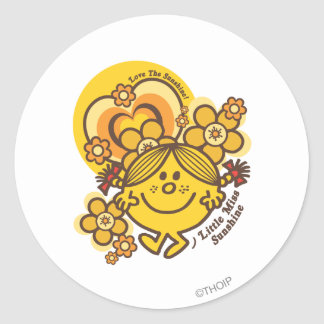 Love The Sunshine | Flowers & Color Round Sticker