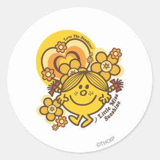 Love The Sunshine Round Stickers