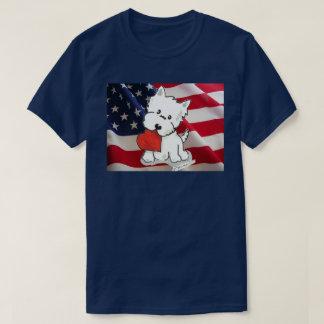 Love the USA Westie T-Shirt