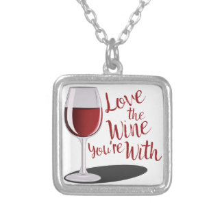 Love The Wine Silver Plated Necklace