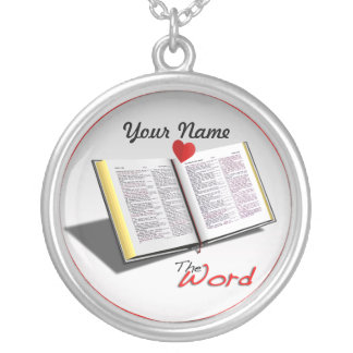 Love The Word Round Pendant Necklace
