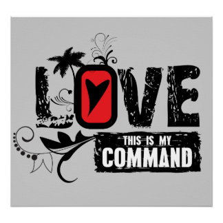 Love- This is My Command John 15 12 Poster
