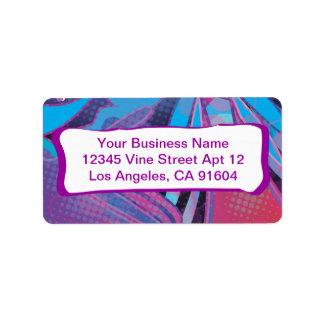 Love this Rockin' Rainbow Abstract Comic Pattern Address Label