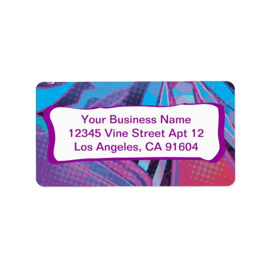 Love this Rockin' Rainbow Abstract Comic Pattern Address Label