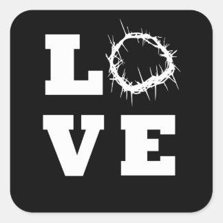 Love Thorns Square Sticker