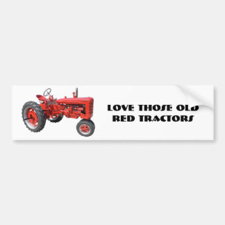 Love Those Old Red Tractors Bumper Sticker