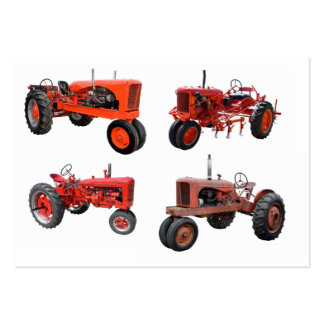 Love Those Old Red Tractors Business Card Template