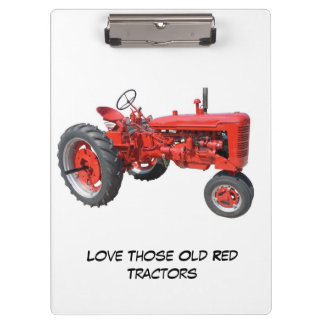 Love those old red tractors clipboard