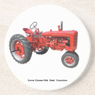 Love Those Old  Red  Tractors Beverage Coaster