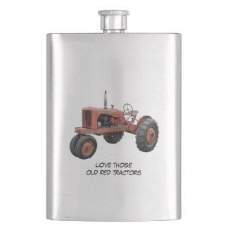Love Those Old Red Tractors Flasks