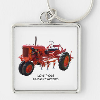 Love Those Old Red Tractors Keychain