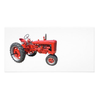 LOVE THOSE OLD RED TRACTORS PHOTO CARD