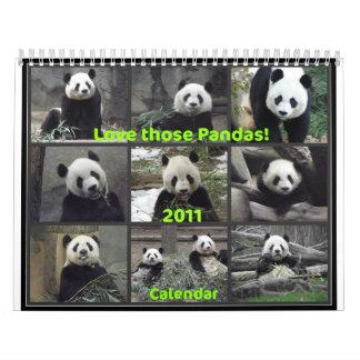 Love Those Pandas! 2011 Calendar