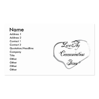 Love Thy Communications Person Business Card Templates