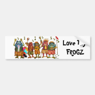 Love Thy Frogz - Bumper Sticker