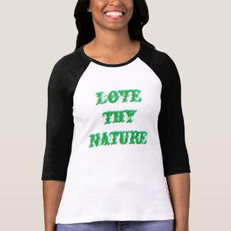 Love thy nature 3-D text shirt