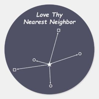 Love Thy Nearest Neighbor Round Sticker