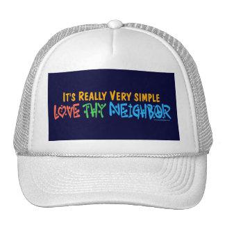 Love Thy Neighbor - Heart, Peace Sign Cap