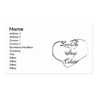 Love Thy Stamp Collector Business Card Template
