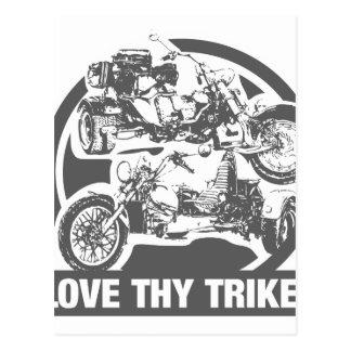 love thy trike - motorcycle post cards