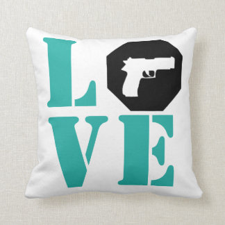 LOVE- Tiffany Blue Cushion