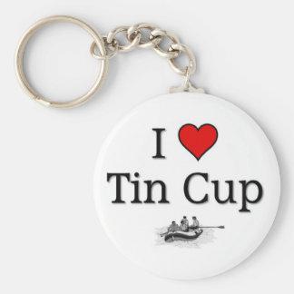 Love tin cup key ring