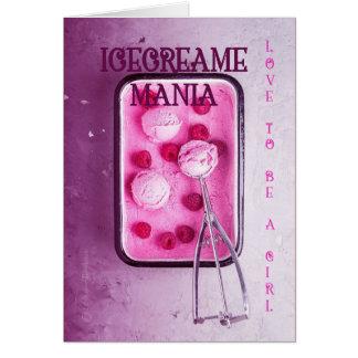 Love to be a Girl Postcard: Icecreame mania! Card