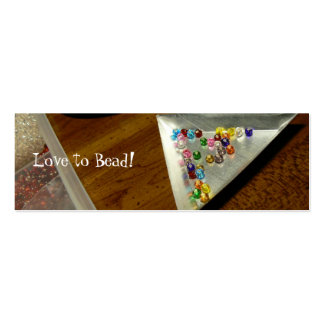 Love to Bead! Bookmark Pack Of Skinny Business Cards