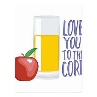 Love To Core Postcard