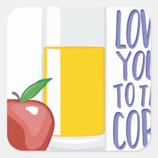 Love To Core Square Sticker