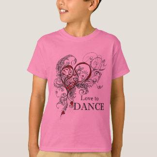 Love to Dance Kids T-shirt (customisable)
