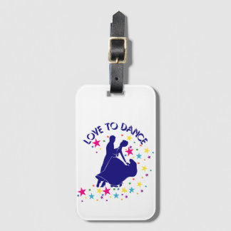 Love to dance luggage tag