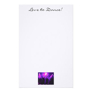 Love to Dance note paper T w/Dance Party logo Custom Stationery
