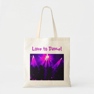 Love to Dance tote w/Dance Party logo Budget Tote Bag
