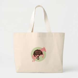 Love To Gallop Tote Bags