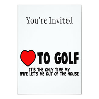 Love To Golf Card