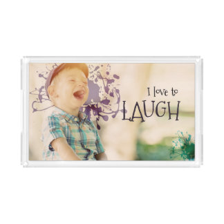 Love To Laugh by Inspirational Downloads Acrylic Tray