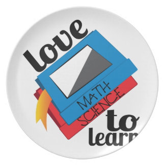 Love To Learn Party Plate