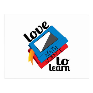 Love To Learn Postcard