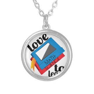 Love To Learn Silver Plated Necklace