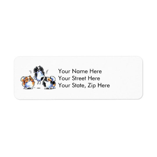 Love to Parti Pomeranians Return Address Label